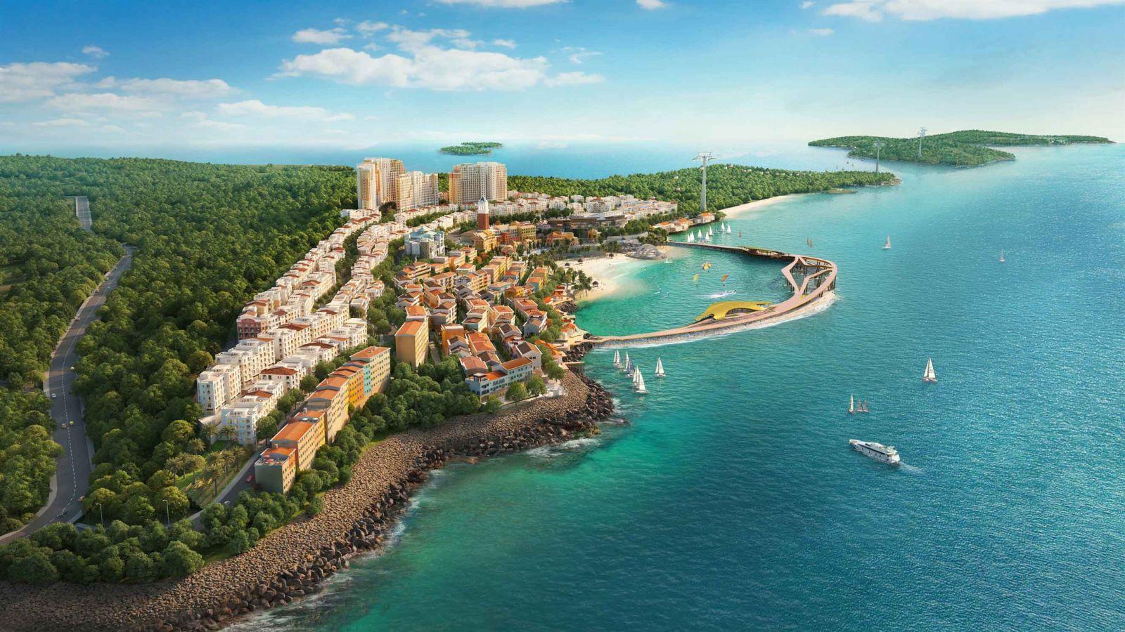 """Toàn cảnh """"Thị trấn Địa Trung Hải"""" tại Nam đảo Phú Quốc"""
