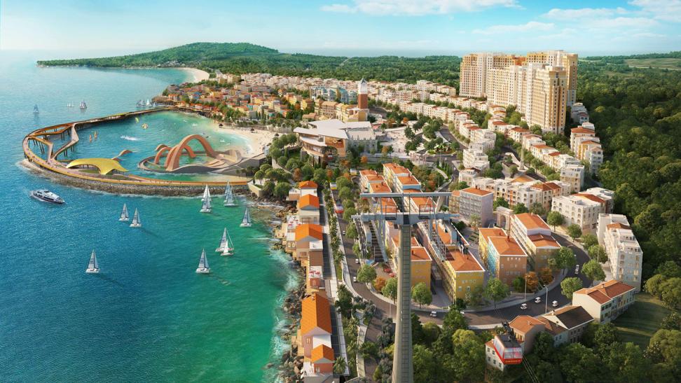 Tổ hợp giải trí – nghỉ dưỡng Thị Trấn Địa Trung Hải, Nam Phú Quốc (Ảnh minh họa)