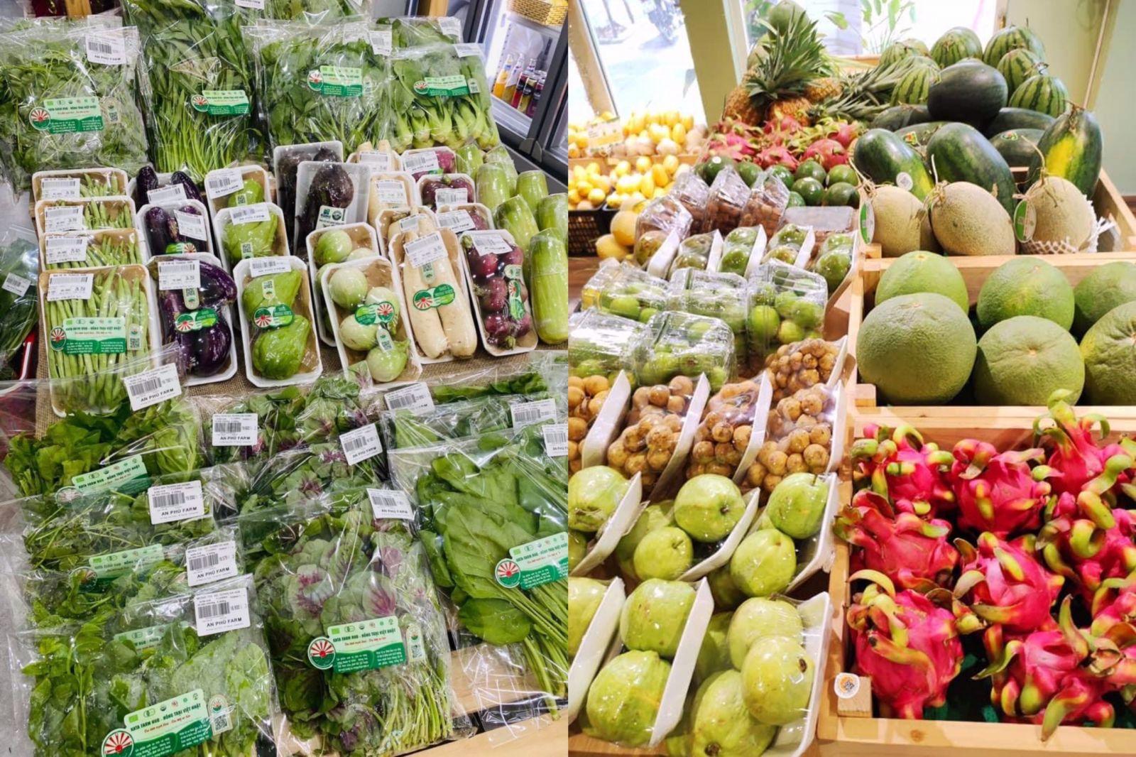 Một số thực phẩm Organic Grown luôn có sẵn trên các kệ hàng của hệ thống 6 chi nhánh cửa hàng thực phẩm hữu cơ An Phú Farm tại Đà Nẵng, Quảng Nam và Quảng Ngãi.