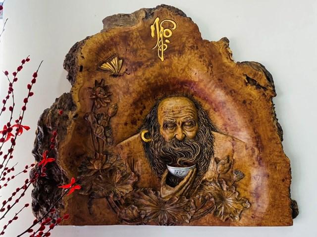 Tác phẩm điêu khắc Thiền Trà.