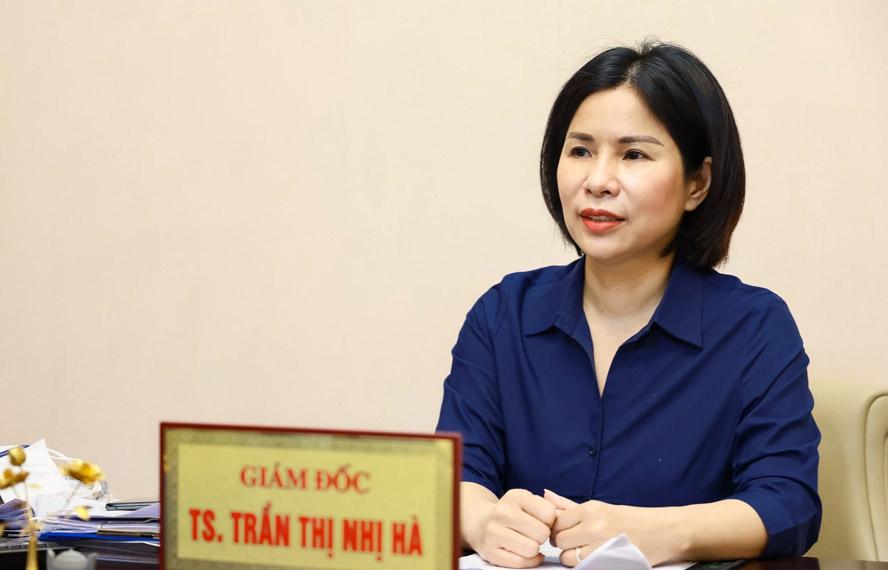 Bà Trần Thị Nhị Hà, Giám đốc Sở Y tế Hà Nội.