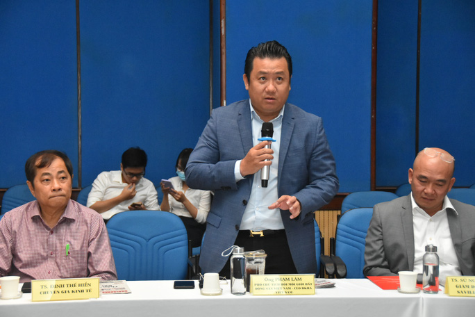 Ông Phạm Lâm - TGĐ DKRA Vietnam phát biểu tại buổi Hội thảo sáng ngày 8/4