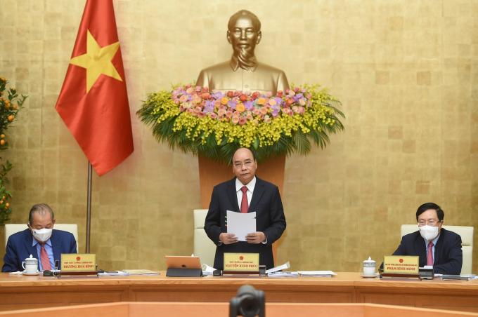 """Thủ tướng Nguyễn Xuân Phúc đề nghị tiếp tục phòng chống dịch bệnh COVID-19, """"với tinh thần vaccine + 5K"""