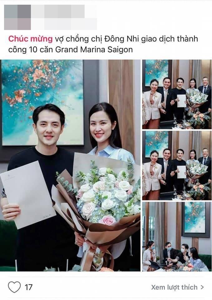 Môi giới chia sẻ thông tin về việc vợ chồng Đông Nhi – Ông Cao Thắng mua 10 căn hộ tại dự án Grand Marina