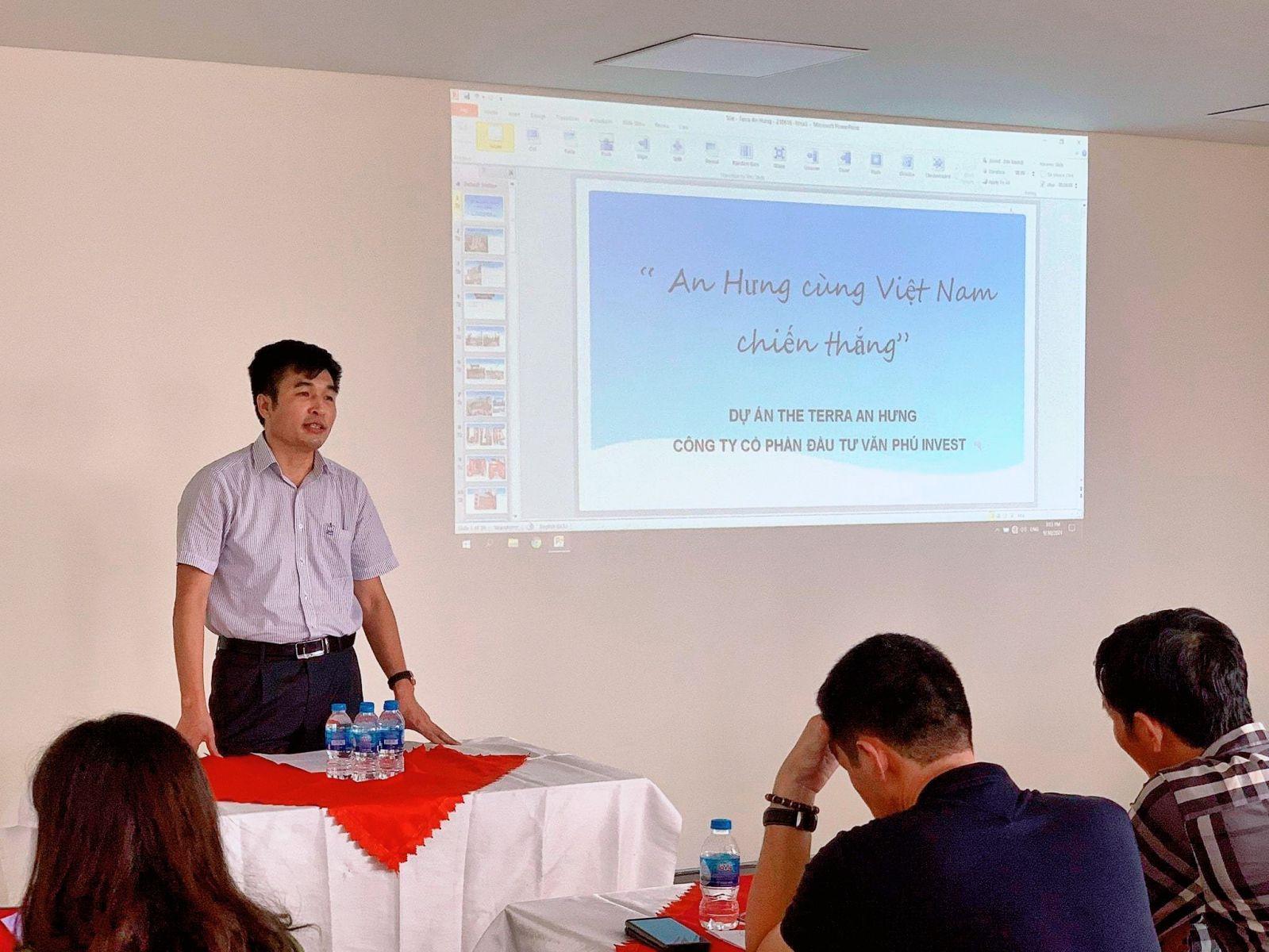 TGĐ Triệu Hữu Đại trực tiếp chia sẻ về ATLĐ&VSCT tại dự án The Terra – An Hưng