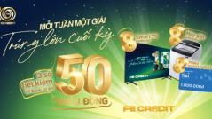 6 khách hàng trúng thưởng sau 2 đợt quay số may mắn của Fe Credit