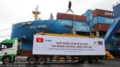 THACO xuất khẩu lô ôtô và linh kiện phụ tùng lớn nhất từ trước đến nay