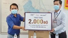 BAC A BANK trao tặng 2.000 bộ xét nghiệm nhanh Covid-19 góp sức chống dịch