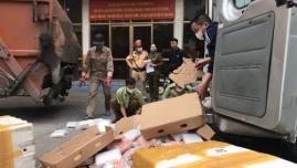Quảng Ninh: Tiêu hủy 1020 kg chân gà tẩm ướp không rõ nguồn gốc