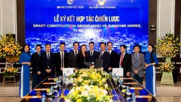 Smart Construction Group (SCG) ký hợp tác chiến lược với Sunshine Homes