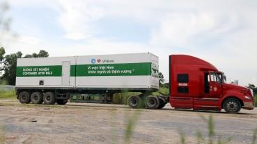 Chung tay chống dịch, VPBank đưa 4 container xét nghiệm Covid-19 vào tâm dịch phía Nam