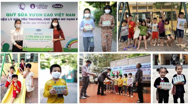 Vinamilk trao 10 tỷ và 1 triệu ly sữa hỗ trợ trẻ em, tổng kết chiến dịch cộng đồng nhiều ý nghĩa
